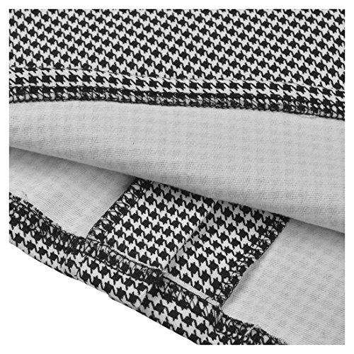 Miusol Damen 3/4 Arm Schoesschen?Cocktailkleid Hahnentrittmuster 1950er Jahre Business Stretch Kleid Grau Gr.L - 6