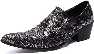 YOWAX Zapatos de Cuero Zapatos de Moda Zapatos del Modelo de la Serpiente Camisetas Punk Martin Personalizada Occidental d...