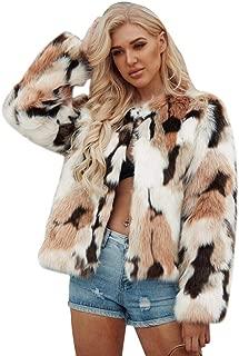 YYW Women's Warm Multicolor Faux Fur Coat Chic Jacket Cardigan Outerwear Tops Overcoat Winter Parka Jacket Outwear