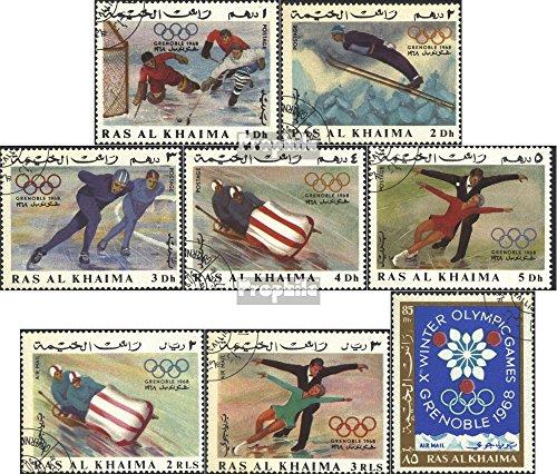 Prophila Collection RAS al Khaimah 209A-216A (Completa Edizione) 1967 Olympics. Giochi Invernali `68, Grenoble (Francobolli per i Collezionisti) Sport Invernali