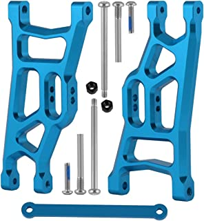 Aluminum Front Suspension Arms W/Tie Bar Replace 3631 2532 Upgrade Parts for 1/10 Traxxas Slash 2WD Short Course (Enhanced Version) (Blue)