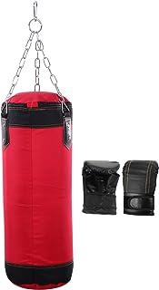 Conjunto de saco de pancada e luvas de boxe BESPORTBLE, saco de treinamento vazio com correntes de 60 cm, saco de areia pa...