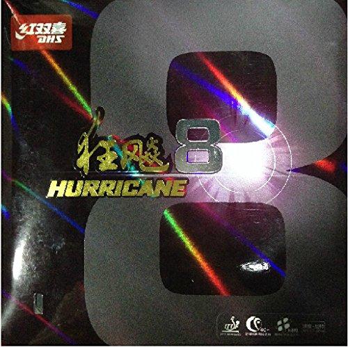 DHS hurricane 8Turnier Ping Pong Paddel, Tischtennis Gummi, schwarz