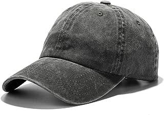 Unisex Washed Dyed Cotton Adjustable Solid Baseball Cap