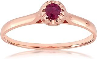 Mielle Amori ∞ - Anello di fidanzamento da donna in oro e rubino naturale, oro bianco 9 kt 375, rubino naturale 0,12 kt