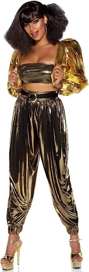 70s Disco Fashion: Disco Clothes, Outfits for Girls Leg Avenue Womens Studio Disco Dream 80s Costume  AT vintagedancer.com