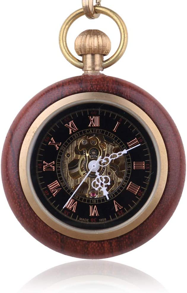 YIWMHE Fashion 2021new shipping free Retro Wooden Case Roman Dial Number Mechanical Po Ranking TOP3