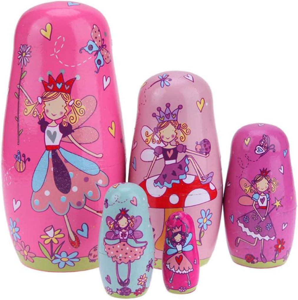 Limited time sale Konrisa Nesting Dolls 5 Piece Set Angel Doll Elf Matryoshka Cute Product