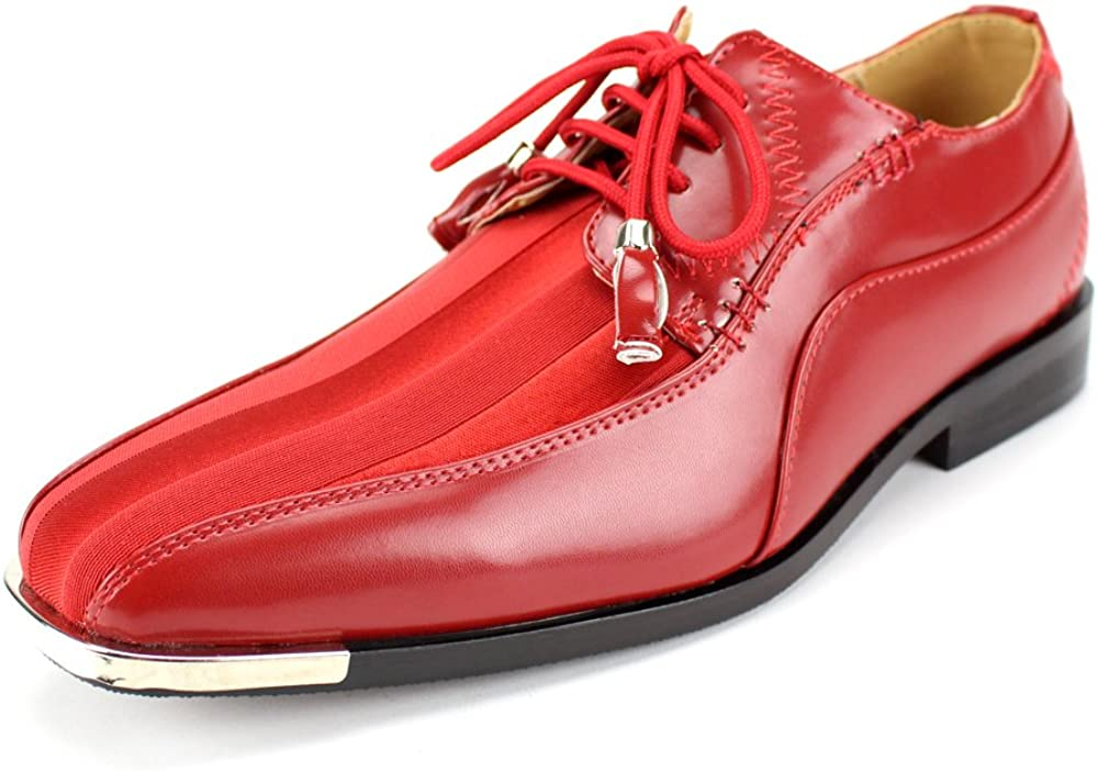 Expressions 4925 Men's All stores are sold Formal Purchase Oxford Shoes T Satin Dress Striped