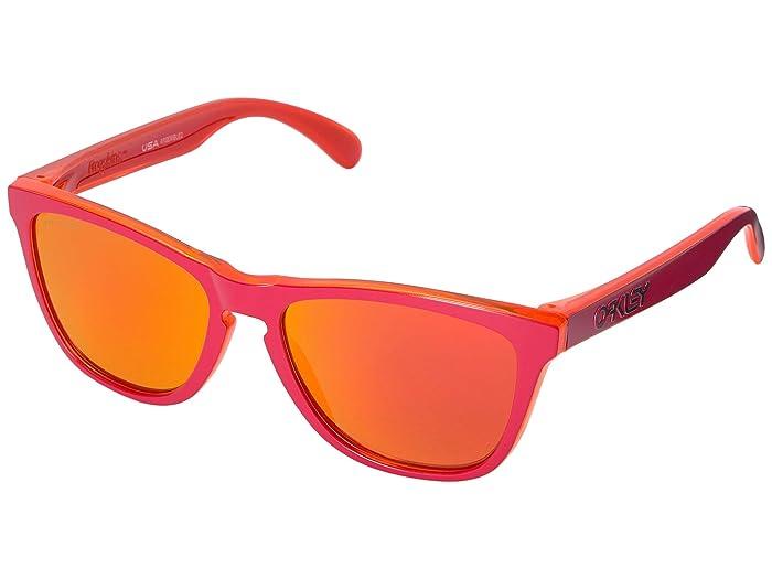 Oakley Frogskins (Matte Red Trans Orange w/ Prizm Ruby) Sport Sunglasses