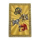 開運カード 黄金の開運護符 四神獣 お財布の中・金庫の中に 開運グッズ 開運財布 金運