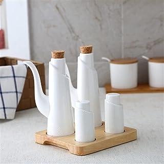 Bouteille d'huile de poivre de sel céramique Set de style Japon Porcelaine Olive Doy Assaisonnement Home Huile Vinaigre Bo...