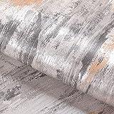 Livelynine Papel Pintado Gris Plata 40CMX5M Papel Pared Rayas Papel Adhesivo Cocina Papel Tapiz Paredes Vinilos Para Muebles Decorativos Papel Pintado Pared Dormitorio Vinilo Adhesivo Gris Metalizado
