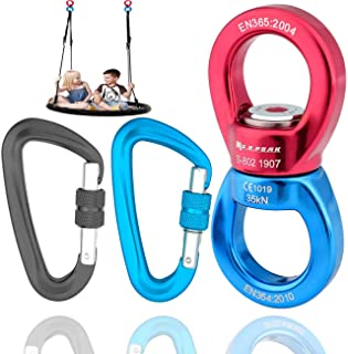 GABraden Swing Swivel 35KN Breaking Strength 360° Safest Rotational Device Hanging Accessory for Rock Climbing, Hanging Ha...