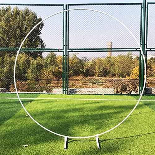 Round Wedding Balloon Arch, Garden Arch, DIY Curved Arches for Birthday Party Wedding Anniversary Etc (White, Golden)