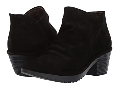 FLY LONDON WEZO890FLY Wide (Black Oil Suede) Women