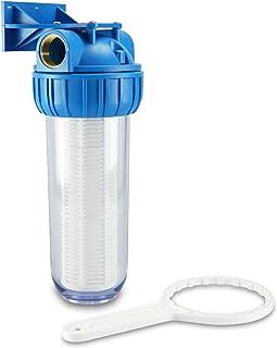 smardy HWF 100 Préfiltre Débit d'eau à 5000l/h avec support mural et clé filtre pour pompes - Lavable