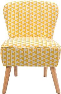 Panana moderno tessuto di lino poltrona divano sedie per soggiorno salotto ufficio colore (giallo + bianco)