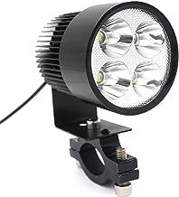 LEORX 12V-85V 20W Motorcycle E-bike LED Headlight Lamp Car Accessories (Black)