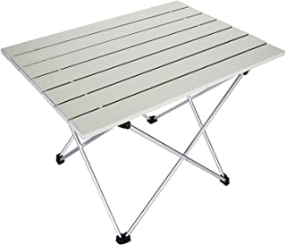 Tianhai Central Air Conditioning Co., Ltd Portable Camping Tables with Aluminum Table Top,Aluminum Hard-Topped Outdoor Folding Table,Oxford Handbag Portable for Outdoor, Picnic, Vacation