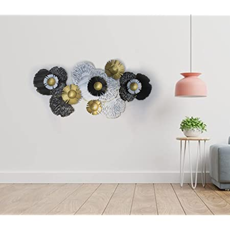 Kumar Industries Metal Wall Décor, Wall Hanging, Wall Arts for Home/Living Room/Bedroom/Hotel (Size: 51x27 Inch, Multicolor, Nature).