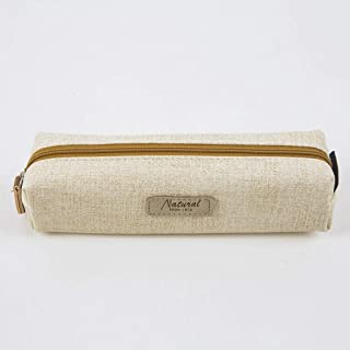 Large Capacity Pencil Case for Boys and Girls Pencil Case Student Solid Color Creative Simple Pencil Bag Boys and Girls Pencil Box (Color : Beige)