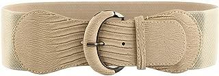 VOCHIC PU Leather Elastic Wide Belt for Women Stretch Thick Waist Belt for Dress