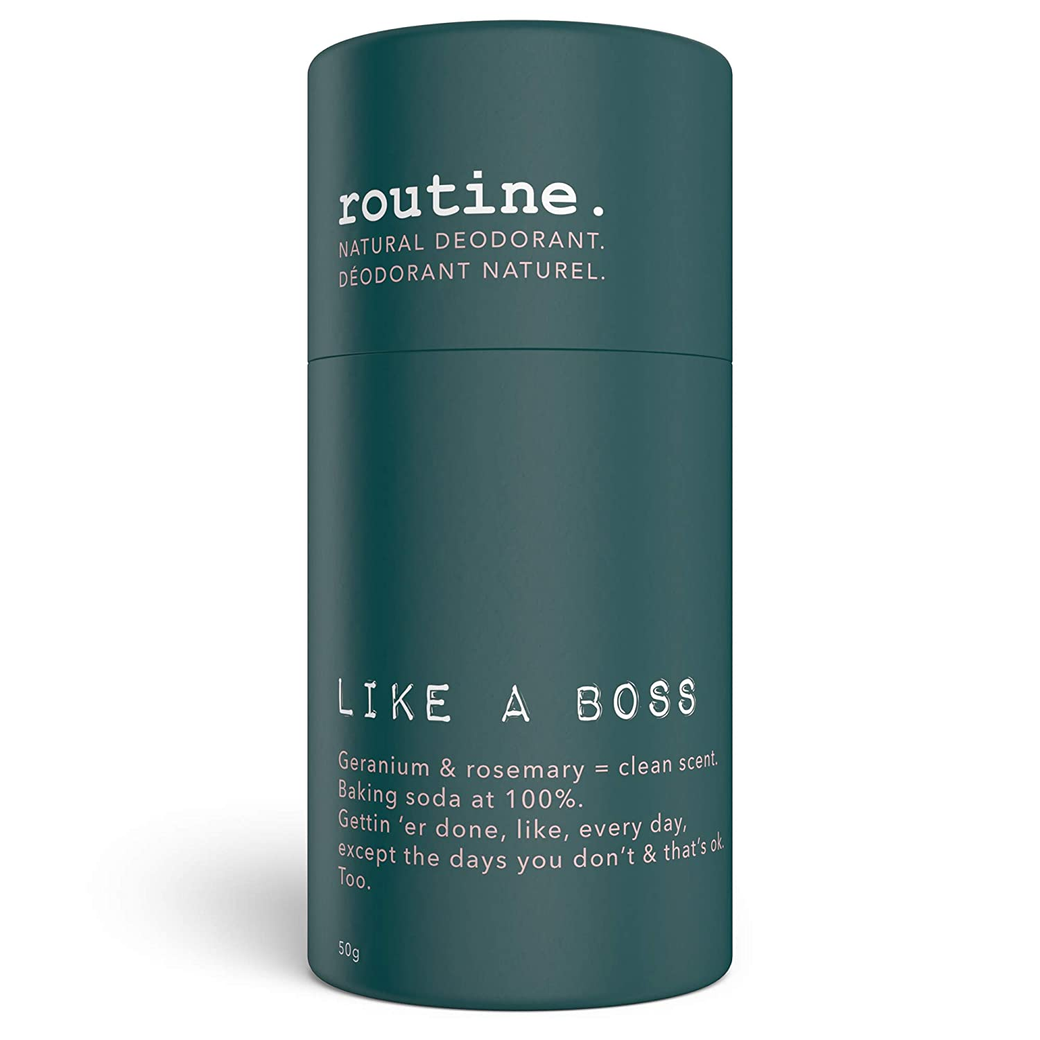 ROUTINE Like a Boss - New Shipping Free Shipping All Stick Maximum 50g Charlotte Mall Deodorant Natural