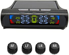 UTSAUTO TPMS Tire Pressure Monitoring System Solar Power with 4pcs Waterproof External Sensors Real-time Detection Tire Pressure Temperature Auto Security Alarm Systems