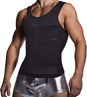 KOCLES Mens Compression Tank Top Slimming Body Shaper Vest پیراهن Abs Slim Gym
