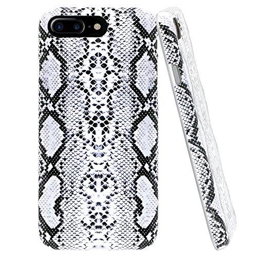 Lartin Soft Flexible Jellybean Gel TPU Case for iPhone 7 Plus / iPhone 8 Plus (Cool Snake Skin)