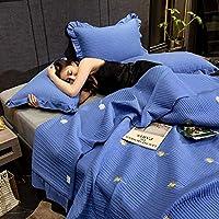 寝具キルティングベッドカバースローブランケット-100%コットン絶妙な刺繡掛け布団セット3ピース家の装飾多機能キルトベッドカバーと2つの枕カバー、グレー6-キング:230x250cm + 50x70cmx2