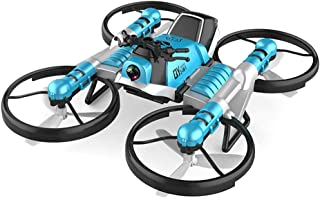 2 in 1 Foldable Motorcycle Drone with Camera, WiFi FPV RC Drone Motorcycle with Wi-Fi Live Video for Beginners Adults Kids, Quadcopter Drone with Battery, Altitude Hold, Headless Mode, One Key Return