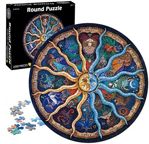 Rompecabezas Circulares,1000 Piezas Redondo Puzzle,Educativo El Alivio del Estrés Juguete Relajante Juego Divertido,Juego de Rompecabezas Circular Desafío Intelectual Juegos Niños Adultos