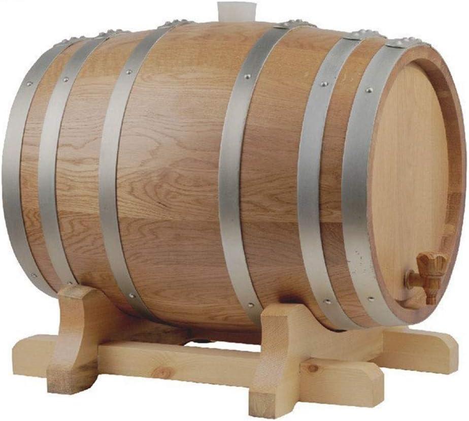 Producción de vino Botellas De Whisky Vino Crianza En Barrica Restaurante Cañón Bebida Cocina Barril De Vino De 60L (Color : Brown, Size : 60L)