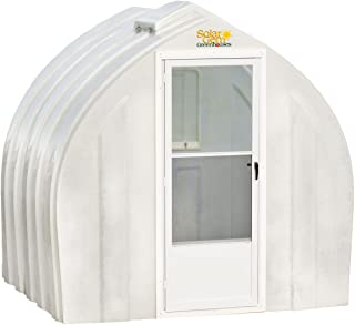 Solar Gem 8' x 7.5' Small, Fully Assembled, Heavy Duty, Walk-In Fiberglass Greenhouse