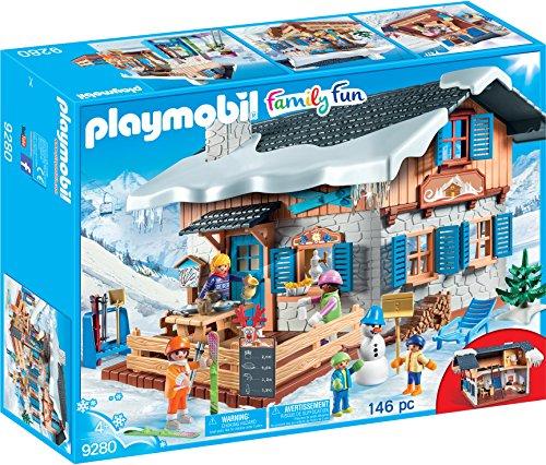 PLAYMOBIL Family Fun Cabaña de Esquí, A partir de 4 años (9280)