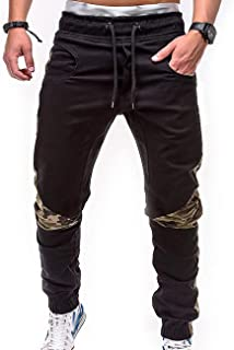 Men Elastic Waist Belt Cotton Pants Modern Sweat Jogging Casual Plus Size Fashion Sports Length Cargo Pants Shorts with Po...