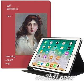 NN.Zhilaner ipad pro11 ケース 2020 かわいい 軽量 iPad mini5 ケース ipad 9.7 ケース 第五世代/第六世代 通用 iPad air ケース iPad air2 ケース ipad mini5 ケース ipad mini4 ケース iPad第五世代 ケース ipad第六世代 ケース アイパッドA1893 A1954 2018 9.7 ケース ipad 9.7インチ ケース iPadミニ23ケース iPadミニ4ケース iPadミニケース iPadairケース iPadair2 ケース ipad pro11 ケース 第一世代 第二世代 ペンシル収納 二つ折り 三つ折り 背面透明 スタンド機能 耐衝撃 タブレットケース おしゃれ レトロ 油絵 女性 絵柄 芸術 高級感 若者 レッド (iPad Pro 11(2020発売の第二世代), C-ペンシル収納)