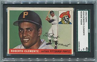 1955 Topps Roberto Clemente Rookie Card. SGC 40 VG 3.