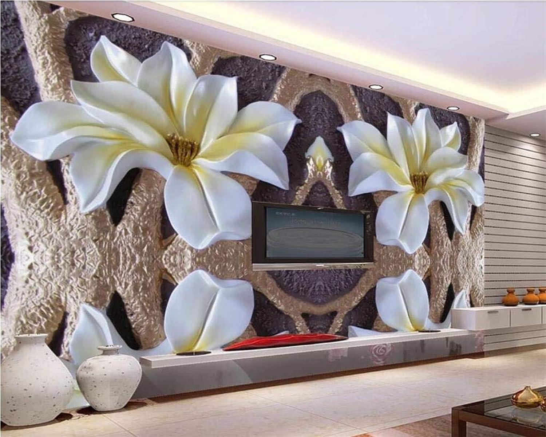 calidad garantizada WYH-YW WYH-YW WYH-YW Fondo de Pantalla Mural en Relieve Magnolia Del árbol TV Antecedentes de Parojo Murales Decoración Del Hogar Mural Papel Pintado 3D 150cmx105cm(W×H)  ¡no ser extrañado!