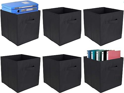 popular netuera online Foldable Open Storage Cubes Fabric Bins Organizer discount for Shelves Black online sale