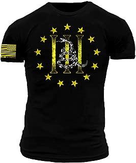 Three Percenter Gadsden Snake Black and Yellow Premium Athletic Fit T-Shirt