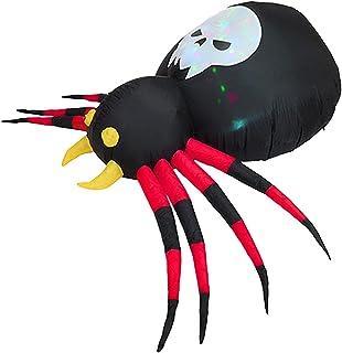 Pomrone 14 m Cadılar Bayramı Dekorasyonu, LED Işıklı, Dış Mekan Cadılar Bayramı Dekorasyonu, Şişme Örümcek Blow Up Aydınla...