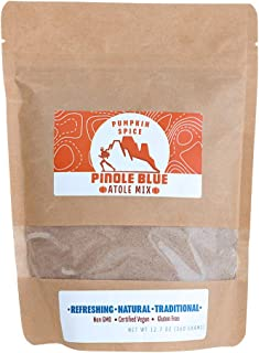Pinole Blue - Atole Blend, Organic Blue Corn Mix, All-Natural, Traditional, Instant Hispanic Drink, Served Warm or Cold, Rich in Antioxidants, Complex Carbs, Vegan-Friendly, Gluten-Free (12.7 Ounces)