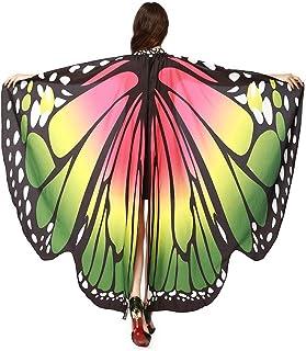 EDOTON Schmetterlingsflügel für Frauen, Nymphe Pixie Kostüm Zubehör Schals Party Cosplay Tanzkostüm
