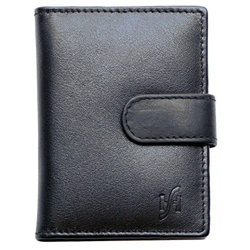 534b8bef79331f STARHIDE Soft Genuine Leather Compact Credit Debit Card Holder Case with  Removable Plastic Sleeves 210