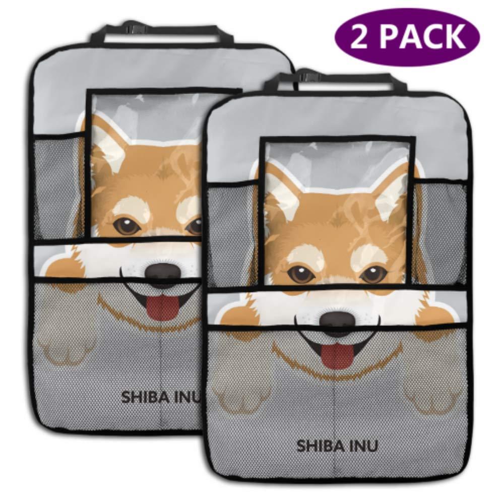 2 Max 90% OFF Pack Car Backseat Organizer Cute Dog Kick Ma Inu Cartoon Shiba Super sale