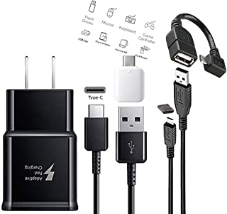 Samsung Adaptive Fast Charging Travel Charger With C & Micro USB Cable with OTG Micro & C TYPE For S6,S7,S8,S9,S10,Edge,+ Note4,Note5,Note8,Note9 - Made in Vietnam (Kit)