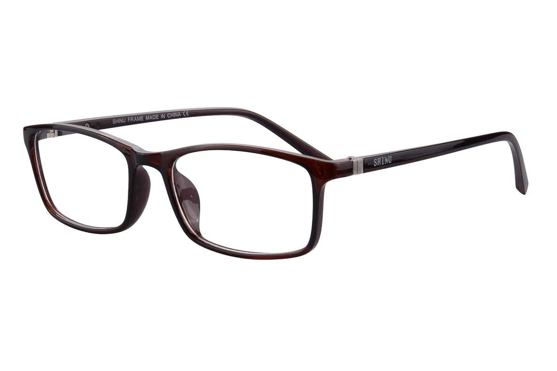 SHINU Mens Filter Blue Light Computer Readers Anti-fatigue Reading Glasses-SH074